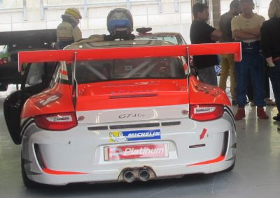 Colin - Porsche 997 GT3 rear - sponsored by Skiset Wengen