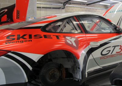 Porsche 997 GT3 - Sponsored by Skiset Wengen