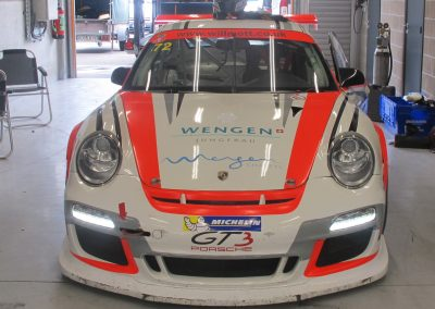 Porsche 997 GT3 front - Sponsored by Skiset Wengen